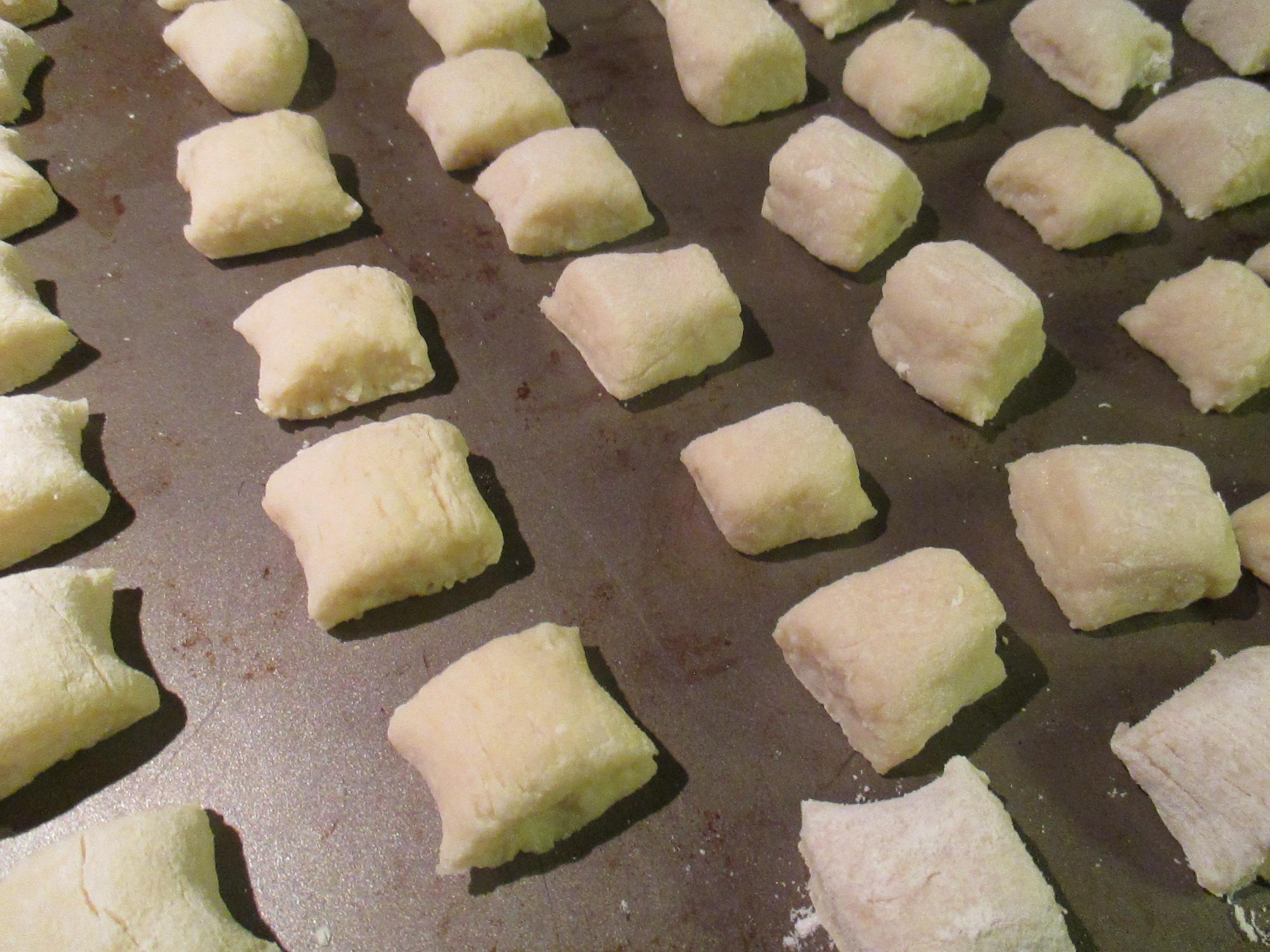 Homemade Gnocchi In A Mushroom Sauce Bead Yarn Spatula